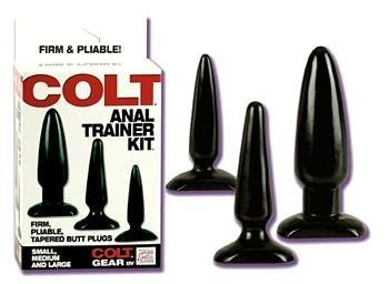 Holiday Gift Set Of COLT Anal Trainer Kit And a box of Trojan ribbed condoms ( 3 condoms total in Package) by Sh-yolada