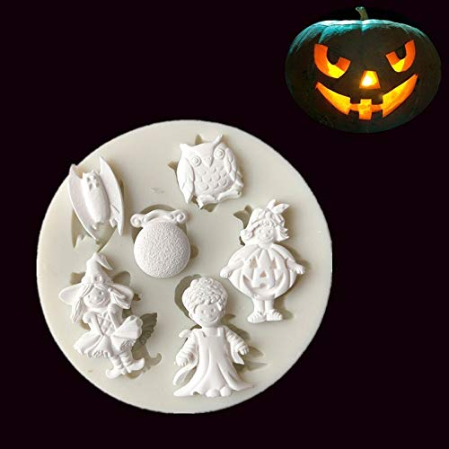 1 piece Halloween Series Silicone Mold Fondant cakemolds Chocolate Cake Tool J165 -