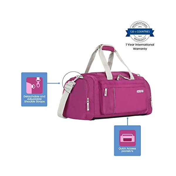 41qiMTYCouL American Tourister Fabric Magenta 28 cms Gym Bag (X-Bags Casual 2)