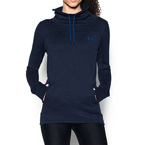 - Under Armour Women's Featherweight Fleece Slouchy Popover, Midnight Navy (410)/Royal, Small