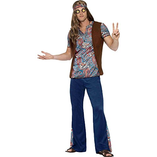 Smiffy's Men's 1960's Orian The Hippie Costume