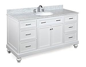 Kitchen Bath Collection KBC511WTCARR Amelia Single Sink Bathroom