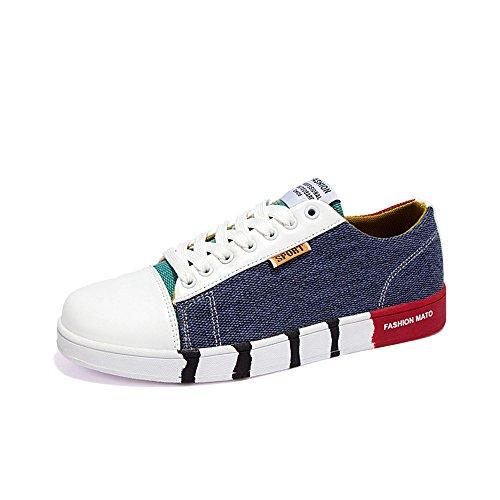 Men's Shoes Feifei Spring and Autumn Fashion Leisure Canvas Tide Shoes 3 Colors (Color : 01, Size : EU42/UK8.5/CN43)