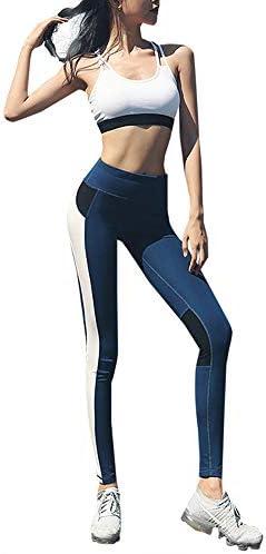 女性用ジムウェアセットヨガウェア2点セット、ハイウエスト弾性レギンススポーツブラスポーツウェアピラティスセット、スポーツ屋外フィットネ