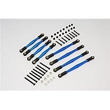 Gmade Komodo Upgrade Parts Aluminum 4mm Anti-Thread Upper+Lower Link Parts - 8Pcs Set Blue
