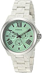 Fossil Women's AM4644 Cecile Multifunction Shimmer Horn Acetate Watch