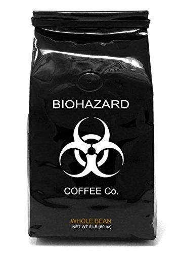 Biohazard Whole Bean Coffee, The World's Strongest Coffee 928 mg Caffeine (80 Ounce)