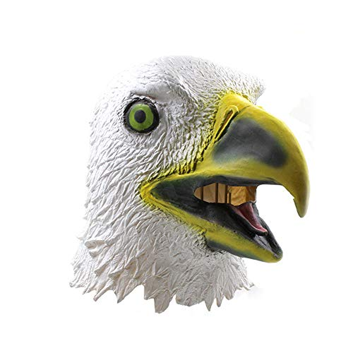 - White Eagle Latex Mask,Bird Head Mask Beak Faux Gothic Retro Costume Props Clown Mask for Men Halloween,Easter,Carnival,Costume Tag Parties or Night Club