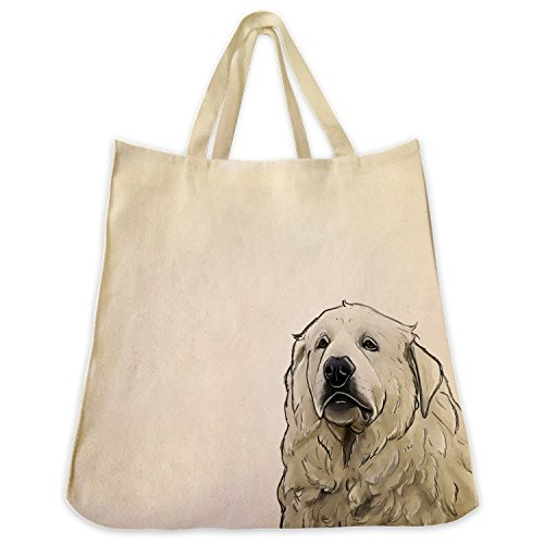 Great Pyrenees Tote Bags   Over 200 Different Breed And Animal Designs To Choose From   Extra Large 100  Cotton Over The Shoulder Handbags   Painted By Hand And Printed In The U S A
