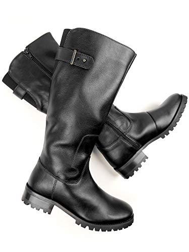 Will's Vegan Shoes Womens Knee Length Boots-6 UK / 39 EU / 8 US Black