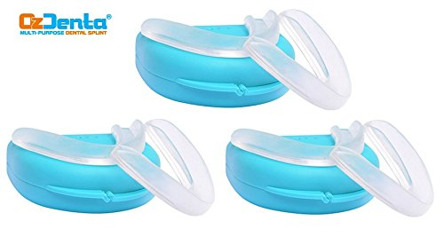 Pack of 6 - SOFT & HARD Dental Mouthpiece Retainer Thin Fit Custom Night Mouth Guard Slim grind Protectors - Sleep Bite Splint to Stop Teeth Grinding, TMJ Tray, Bruxism ()