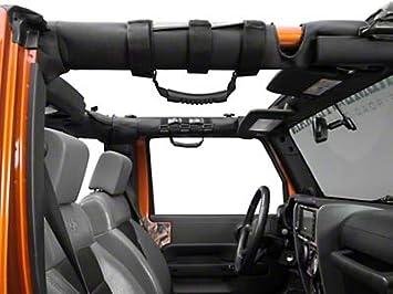 Pair Black Roll Bar Grab Handles Nylon for 1987-2019 Jeep Wrangler YJ TJ JK JL