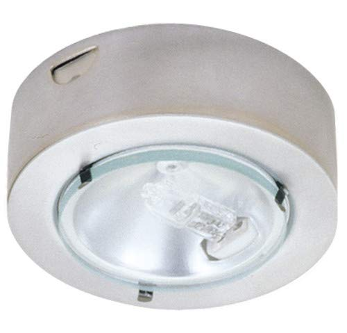 Mini Puck Clear Lens - Elco E228 Mini Downlight with Clear Glass Lens, Nickel