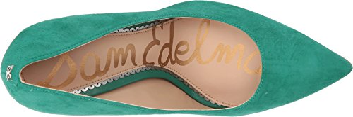 Leather US Golden Hazel Caramel 10 Women's M Women Sam Suede Pumps Green Jade Edelman Kid SWn6qg8