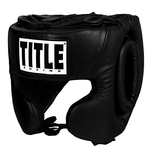 Title USA Boxing Masters Competition Headgear, Black, Large
