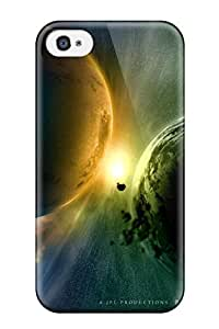 Iphone Case - Tpu Case Protective For Iphone 4/4s- Planets Sci Fi People Sci Fi