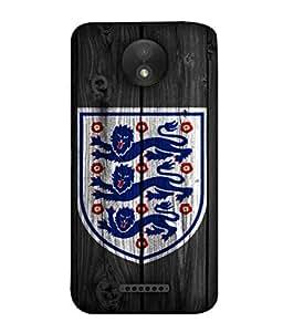ColorKing Football England 16 Black shell case cover for Motorola Moto C Plus