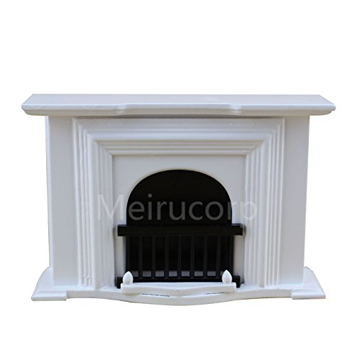 Meirucorp Dollhouse Miniature Furniture 1/12 Scale Well Handmade White Fireplace