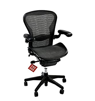 herman miller aeron chair size b tuxedo weave amazon co uk kitchen