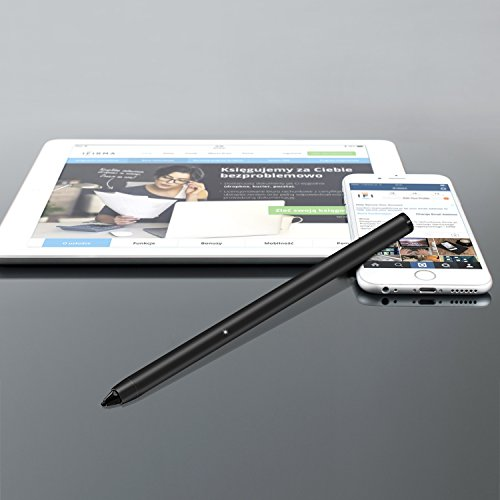 Electronic Stylus, LEFON Active Stylus Digital Pens with 1.8 mm Fine Point Copper Tip for iPhone/iPad/Samsung Tablets and Other Capacitive Touchscreens Devices (Black) by Lefon (Image #5)