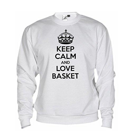 nero Felpa Basket Love And Calm By Unisex Bianco Bikerella Keep zwxq6vOWnZ