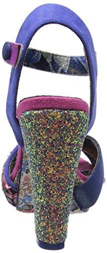 Irregular Choice 4004-25, Sandali con Piattaforma e Tacco Donna Multicolore (Blue)