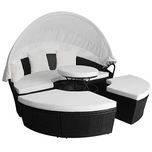 Xinglieu Juego de sofás/Camas solares de jardín de 11 Piezas ...