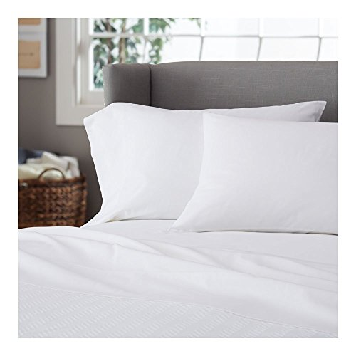 1000 Thread Count - Egyptian Cotton - 1000 TC Hotel Classical Sheet Set ( 4-PCs ), King Sizes, Perfect Mattress ( 21'' Deep ) Made By Galaxy's Linen ( Solid Style : White ) by Galaxy's Linen