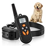 Cheap COSEZIN Dog Training Collar, Stop Barking 550 yd Remote Rechargeable Waterproof Dog Training E-Collar with Beep, Vibration, Static Shock Training Modes for Small, Medium, Large Dogs