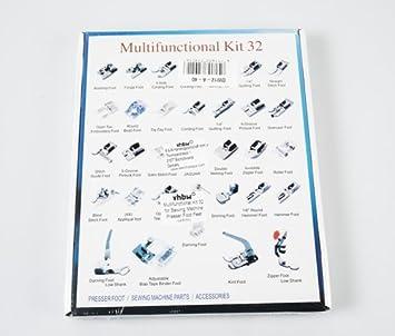 32 Juego de máquinas de coser de Juego de recambio: Amazon.es ...