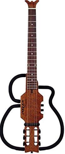 Aria 7A54A - Guitarra acústica sin sonido, cuerdas de acero ...