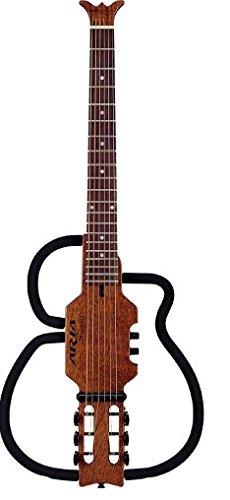 Aria 7A54A - Guitarra acústica sin sonido, cuerdas de acero: Amazon ...