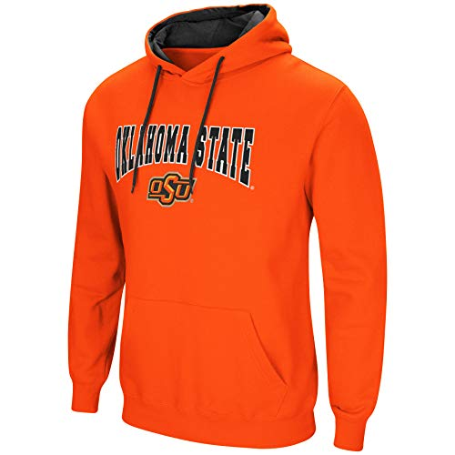 Colosseum NCAA Men's-Cold Streak-Hoody Pullover Sweatshirt with Tackle Twill-Oklahoma State ()
