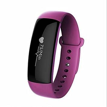 Sports Fitness pulsera actividad Tracker y pulsómetro, tensiómetro Fitness Reloj, SMS Facebook vibración para Android iPhone iOS teléfonos móviles y ...