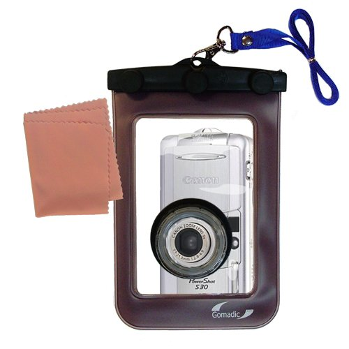 Gomadic防水カメラ保護バッグSuitable for the Canon PowerShot s30 – UniqueフローティングデザインKeepsカメラClean and Dry   B007FDPEP6