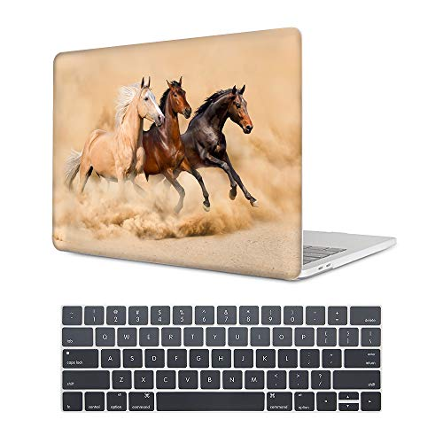 MAITTAO MacBook Air 13 Inch Case 2018 Release A1932,Laptop Hard Shell Cover for Apple MacBook Air 13 2018 Case with Retina Display fits Touch ID, Akhal-Teke Horse ()