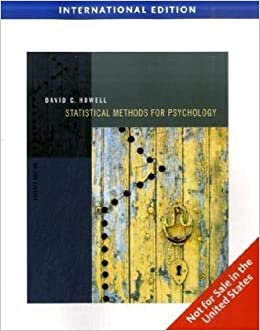statistical methods for psychology by david howell pdf