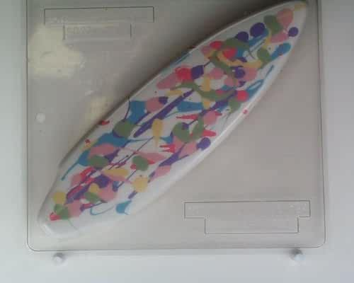 Large surfboard S027 Sports Chocolate Candy Mold
