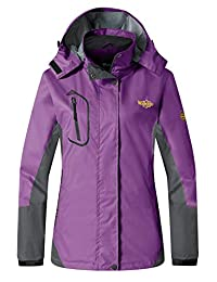 Wantdo Women's Quick Dry Raincoat Hooded Windbreaker Lightweight Waterproof Windproof Rain Jacket