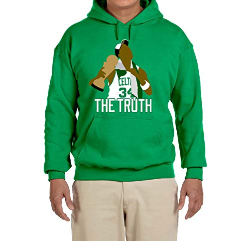 Peg Leg Shirts Green Boston Pierce The Truth Celebration Hooded Sweatshirt Adult Medium