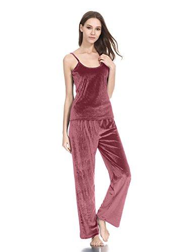 lantisan Soft Velour Pajamas for Women, Camis PJ Set Comfort ()