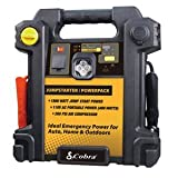 Cobra CJIC 350 500 Amp Portable Jump-Start/Air Compressor with A/C and D/C Power Outlets