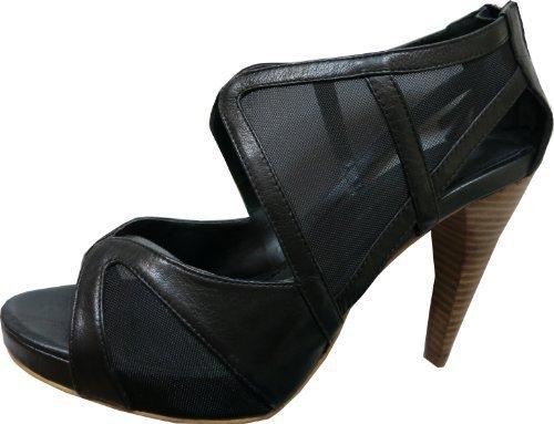 Sandalette von Ashley Brooke aus Leder in Schwarz Schwarz