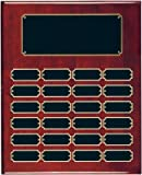24 Plate Perpetual Plaque 15''x12'' FREE CUSTOM ENGRAVING Red Piano Finish with Black Plates