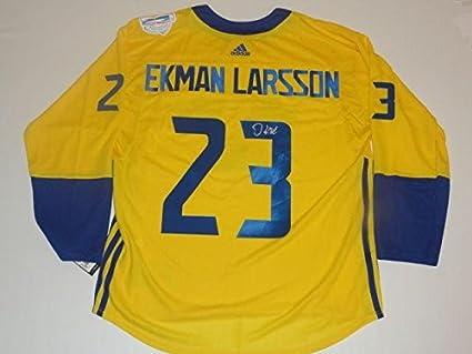 size 40 8ebbf 926f9 Oliver Ekman-Larsson Signed Jersey - 2016 Team Sweden World ...