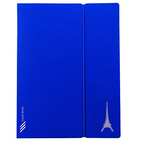 Kobest 20-Pocket Bound Sheet Protector Presentation Book,Display book , 40-Page Capacity with a FranceEIFFEL TOWER as a ()