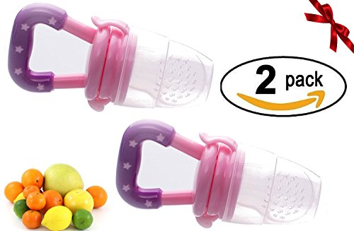 Sterify Fresh Food - Feeding - Soother - Teething - Pacifier - (2 Pack) (Pink) from Sterify