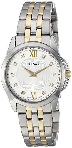 Pulsar Women's PM2165 Dress Analog Display Japanese Quartz Two Tone Watch