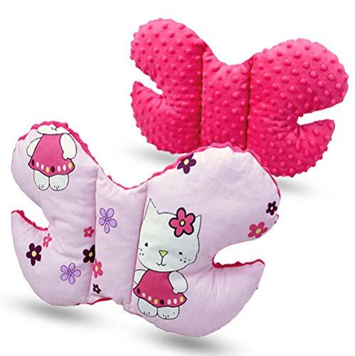 Bebe Mariposa Apoyo Pillow Antishake Soporte Cabeza para Coche Asiento Silla de Paseo - Rosa- Hello Ki