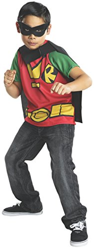 [Rubies Teen Titans Go Robin Costume, Child Medium] (Teen Titan Robin Costumes)